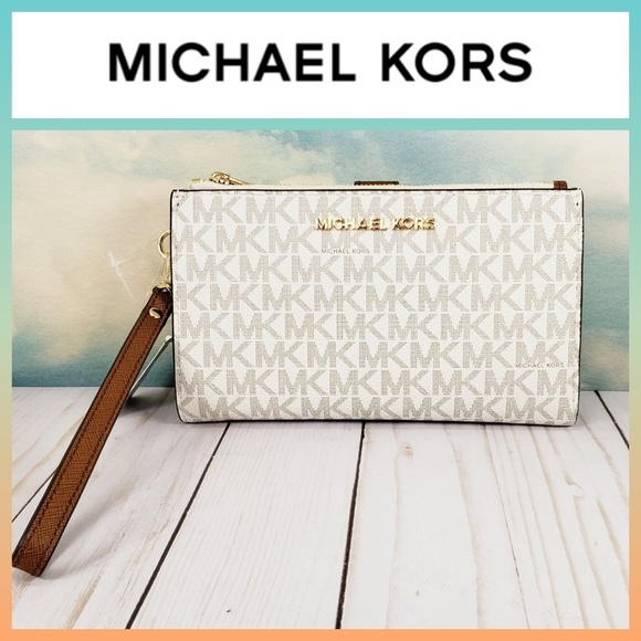 Michael Kors Handbags - Michael Kors Large Double Zip Wristlet Wallet